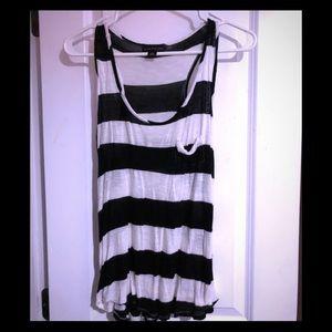 Black and white stripe tank